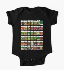 Vegetable seeds pattern One Piece - Short Sleeve