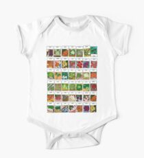 Vegetable seeds pattern One Piece - Short Sleeve