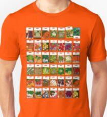 Vegetable seeds pattern Unisex T-Shirt