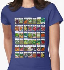 Vegetable seeds pattern Women's Fitted T-Shirt