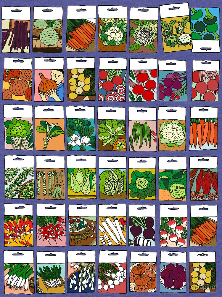 Vegetable seeds pattern by m-lapino