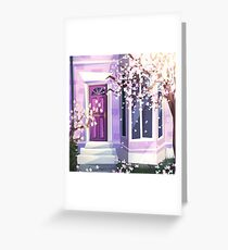 Purple and Blossoms Greeting Card