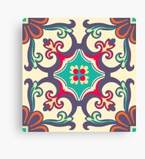 Seamless Colourful Ornament Tiles Canvas Print