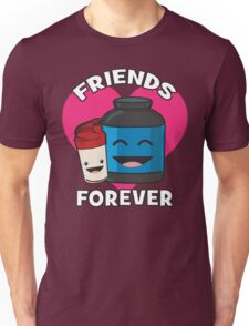 Friends Forever - Protein Shaker and Tub Unisex T-Shirt