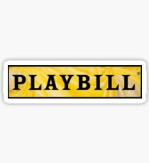 Playbill- Beauty and the Beast Sticker