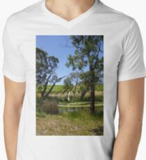 Vines  - Magpie Springs - Adelaide Hills Wine Region - Fleurieu Peninsula - South Australia Men's V-Neck T-Shirt