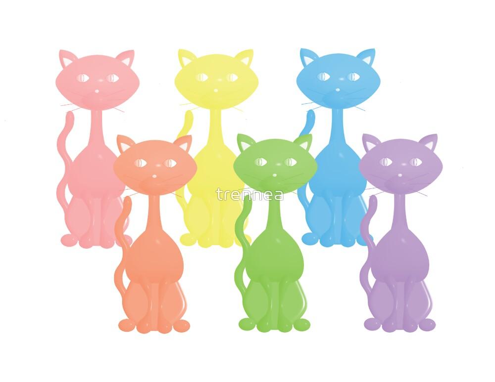 Rainbow Kitties by trennea