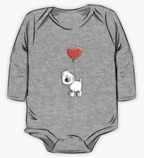 West Higland White Terrier with balloon One Piece - Long Sleeve