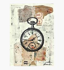 Old Watch Collage Print Art Photographic Print