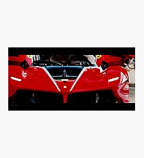 Ferrari FXX-K Red Photographic Print