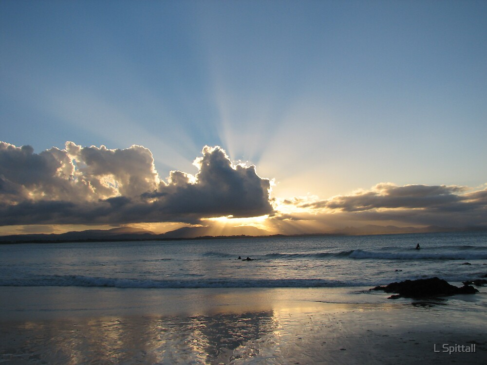 Byron Bay sunset by L Spittall
