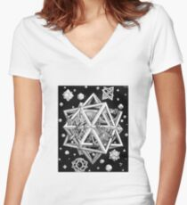 MC Escher lizard star Women's Fitted V-Neck T-Shirt