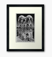 MC Escher construction Framed Print