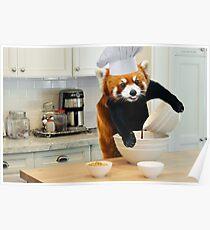 Red Panda Cook Poster