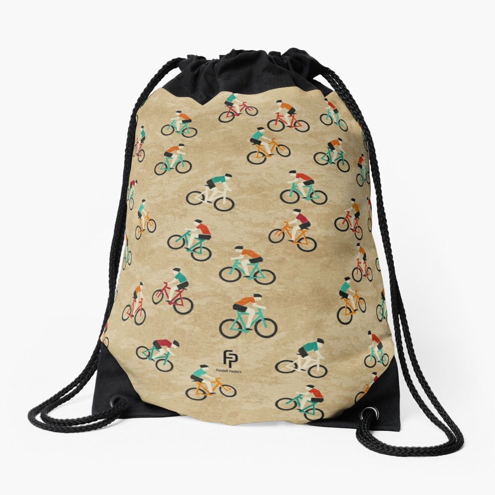 Mountain Biking at Hadleigh Castle Country Park Drawstring Bag Front