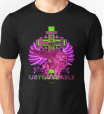 UNTOUCHABLE - WAPPEN schwarz grün lila - Majestic- World  - Design von M. A. MARTIN T-Shirt