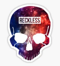 Reckless Schädel Sticker