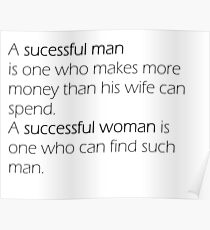 Funny Quotes - Woman VS Man Poster