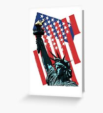 Stars, stripes and liberty Greeting Card