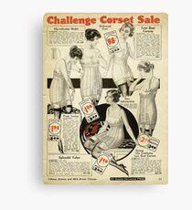 Challenge Corset Sale Canvas Print