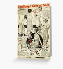 Challenge Corset Sale Greeting Card