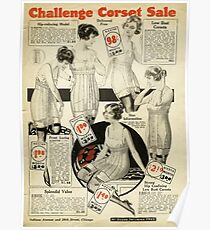 Challenge Corset Sale ad - 1920 Poster
