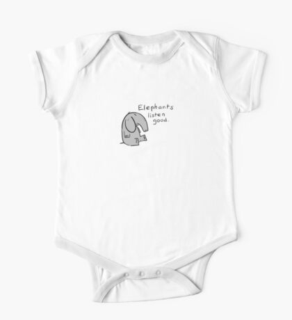 elephants are good listeners Kids Clothes