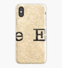 "A close up image of the words ""The End"" from a typewriter iPhone Case/Skin"