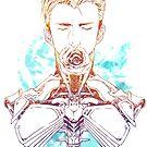 Cyborg Guy with Rose (blue) by lushanarts