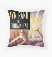 The Fountainhead by Ayn Rand - Cover Throw Pillow