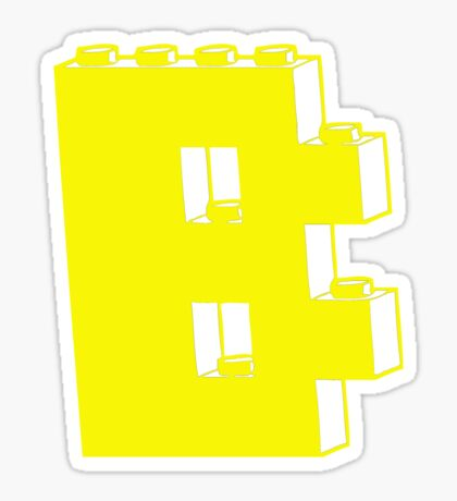 THE LETTER B Sticker