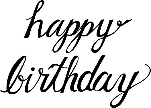 Quot happy birthday calligraphy by baesic clothing co