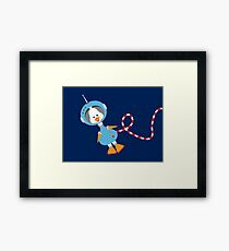 Duck In Space Framed Print