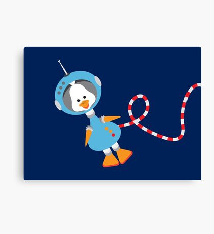 Duck In Space Canvas Print