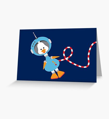 Duck In Space Greeting Card