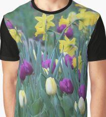 Spring Tulip Garden Graphic T-Shirt