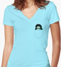 Tommy Wiseau Pocket - The Room Women's Fitted V-Neck T-Shirt