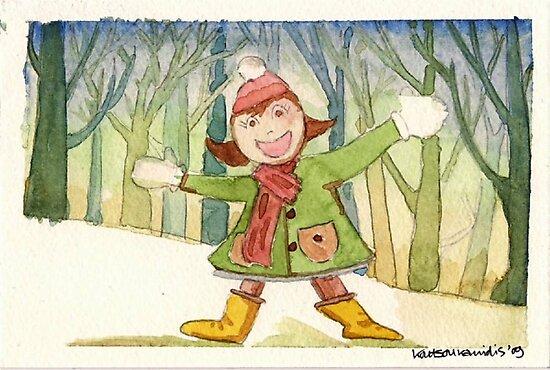 Christmas post-card #1 by Kostas Koutsoukanidis