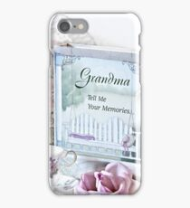 Grandmother...Tell Me Your Memories iPhone Case/Skin