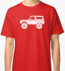 Lifted off-road 4x4 for Ford Bronco (1966-1977) offroad classic car enthusiasts Classic T-Shirt