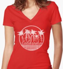 That Calibraska Life Women's Fitted V-Neck T-Shirt