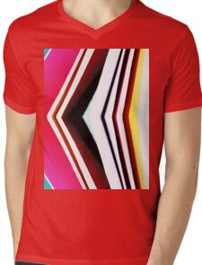 Colored Cube Mens V-Neck T-Shirt