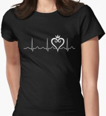 Kingdom Hearts Heartbeat Women's Fitted T-Shirt