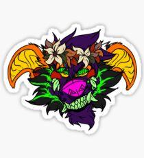 Carnival Smirk (Flower Crown) Sticker
