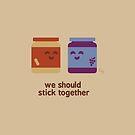 Foodie Buddies - We Should Stick Together  by zacrizy