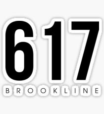 Brookline, MA - 617 Area Code Sticker