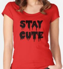 Stay Cute // Pastel Goth  Women's Fitted Scoop T-Shirt