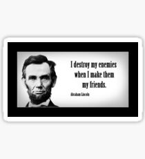 Abraham Lincoln Quotes Sticker