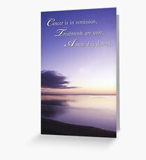 Cancer in Remission, Support Sunset Greeting Card