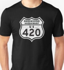 Redwood HIGHway US 420 California Unisex T-Shirt